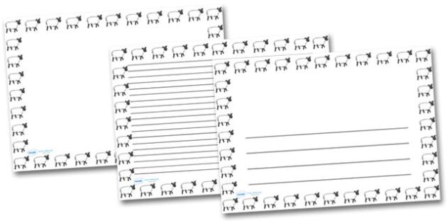 Sheep Landscape Page Borders- Landscape Page Borders - Page border, border, writing template, writing aid, writing frame, a4 border, template, templates, landscape