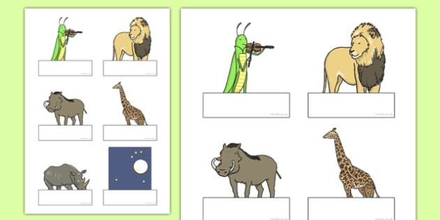 Dancing Giraffe Themed Editable Self-Registration - Giraffes, dance, label, name, register, animals, Africa, safari, classroom, organise, early years, nursery, reception, Giraffes Can