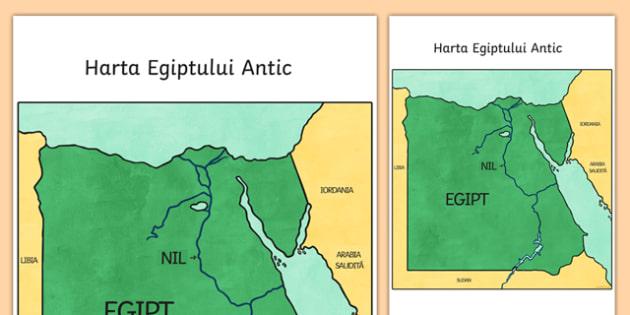 Egiptul Antic - Hartă