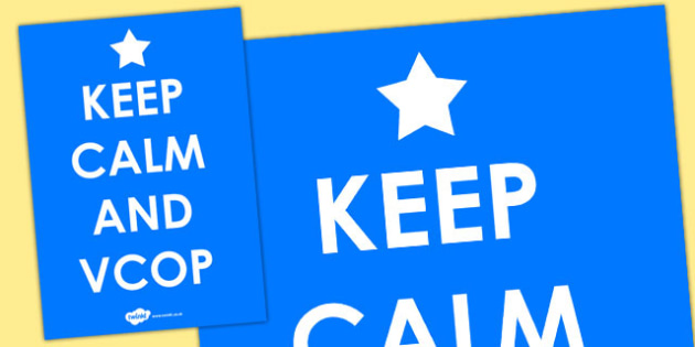 Keep Calm and VCOP Poster (Large) - VCOP poster, literacy poster, literacy display poster, keep calm poster, keep calm, VCOP, VCOP reminder poster