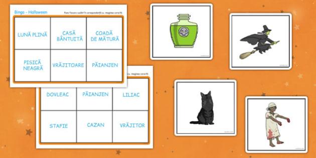 Joc de Halloween - Bingo - Halloween, Bingo, joc, activitate, toamnă, sărbătoare, dovleac, romanian, materiale, materiale didactice, română, romana, material, material didactic