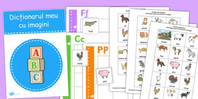 Dictionar cu imagini, Cartonase cu animale - domestice, salbatice