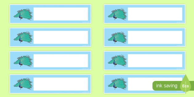 Peacock Editable Resource Labels - peacock, editable, resource labels, labels, display
