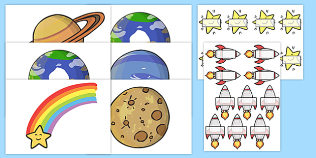 Golden Time Space Theme Display Set - golden time, space themed display, golden time display, golden time set, space themed display set