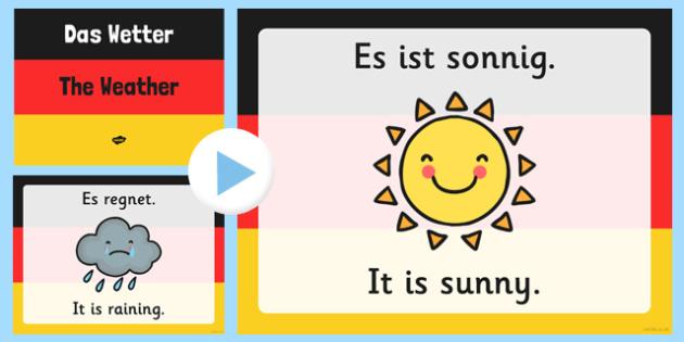 German Weather PowerPoint - german, weather, powerpoint, language, wetter
