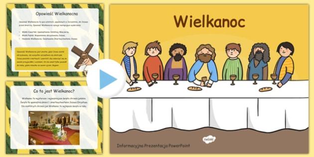 Prezentacja PowerPoint Wielkanoc po polsku - święta, informacje