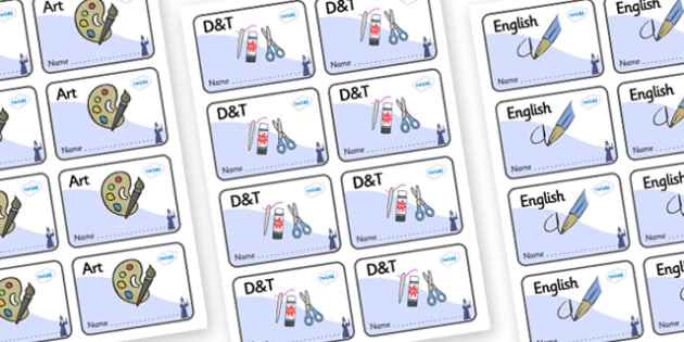 Wizard Themed Editable Book Labels - Themed Book label, label, subject labels, exercise book, workbook labels, textbook labels