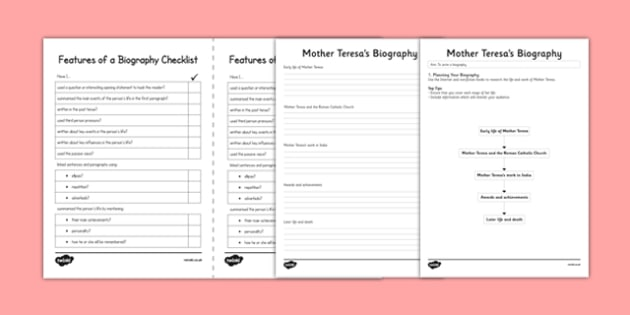 Mother Teresa Biography Writing Task - mother teresa, india, missionary, roman catholic, poor