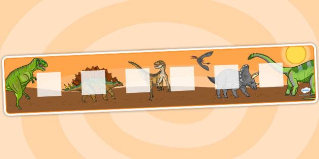 Dinosaur Theme Visual Timetable Display - education, home school, visual timetable, dinosaur, free, kids
