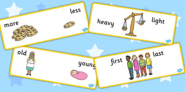 Basic Concept Cards Set Two - concepts, basic concepts, SEN
