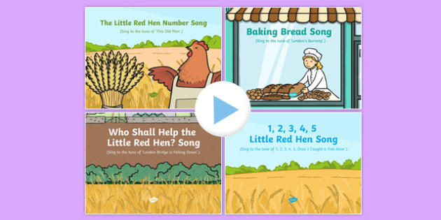 The Little Red Hen Songs and Rhymes PowerPoints Pack
