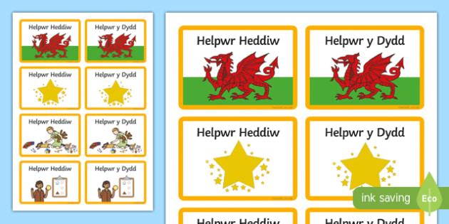 Helpwr Heddiw Badges-Welsh