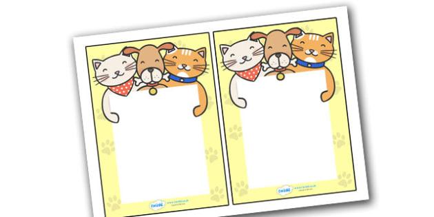 Editable Note From Teacher (Cat Dog Themed) - editable note from teacher, cat dog themed, note from teacher, notes, note, comment, parent, teacher's, editable, cat, dog, animal