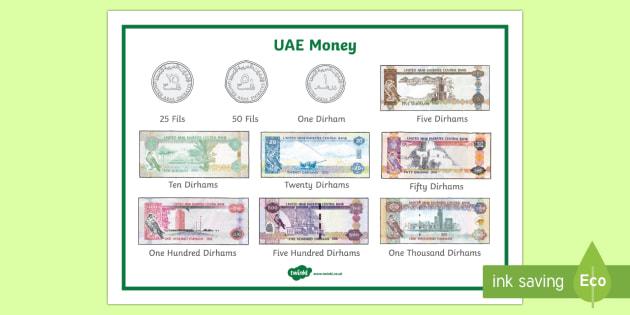 UAE Year 3 Money Word Mat