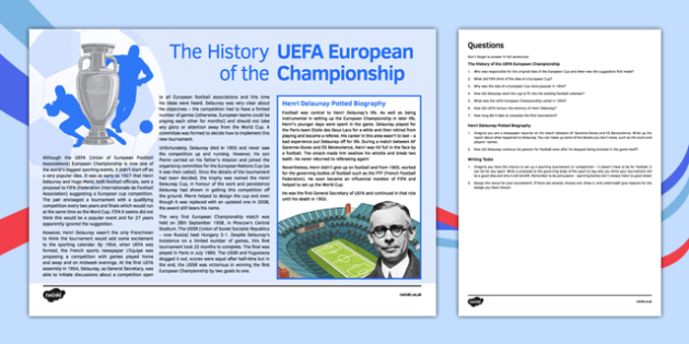 History of Euro 2016 Activity Pack