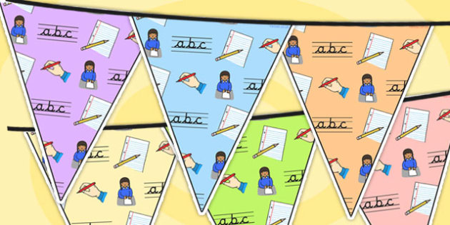Writing Area Themed Bunting - writing, classroom areas, literacy