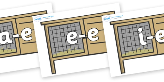 Modifying E Letters on Hutches - Modifying E, letters, modify, Phase 5, Phase five, alternative spellings for phonemes, DfES letters and Sounds
