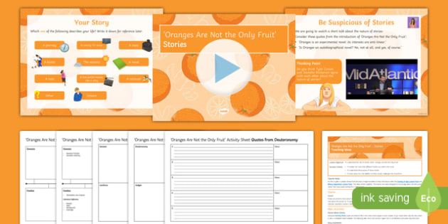 Oranges Are Not the Only Fruit Lesson Pack: Stories