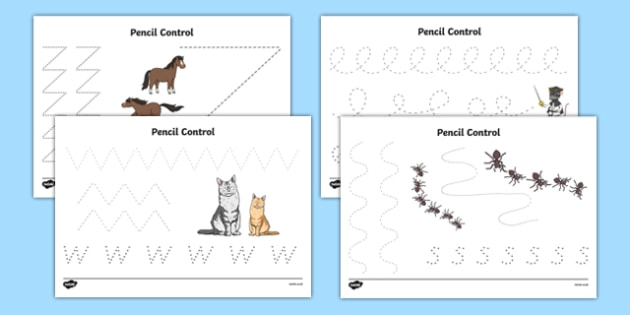 Bandit Rat Themed Pencil Control Activity Sheet Pack - highway rat, bandit rat, julia donaldson, pencil control, worksheet