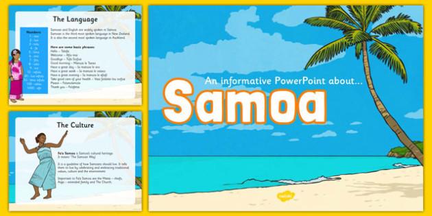 Samoa Information PowerPoint - pacific islands, samoa, countries