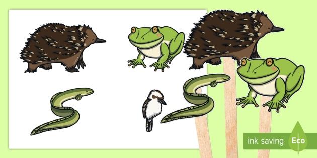 Tiddalick the Frog Stick Puppets-Australia - Australian Aboriginal Dreamtime Stories, tiddalick  the frog stick puppets, drama, acting, stick pup