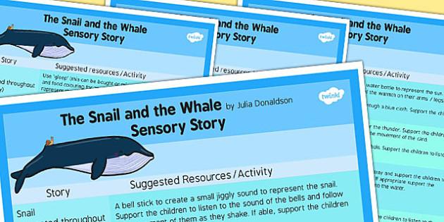The Snail and the Whale Sensory Story - sensory, story, snail