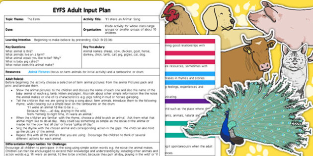 If I Were an Animal Song EYFS Adult Input Plan and Resource Pack