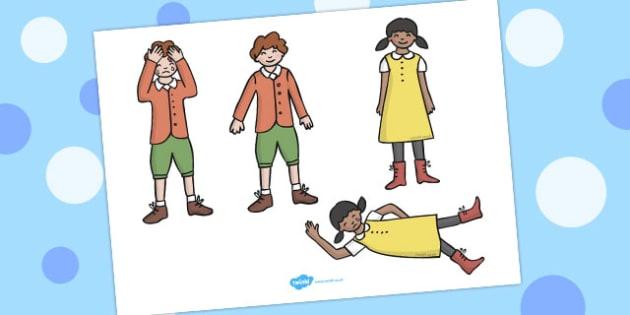 Jack and Jill Stick Puppets - australia, stick, puppets, jack