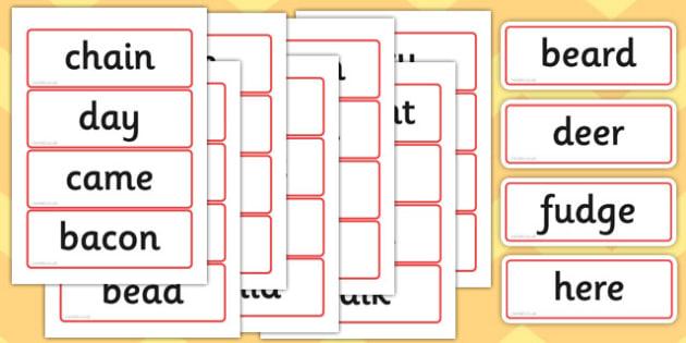 Phase 5 Flashcards Alternative Graphemes - phase 5, flashcards