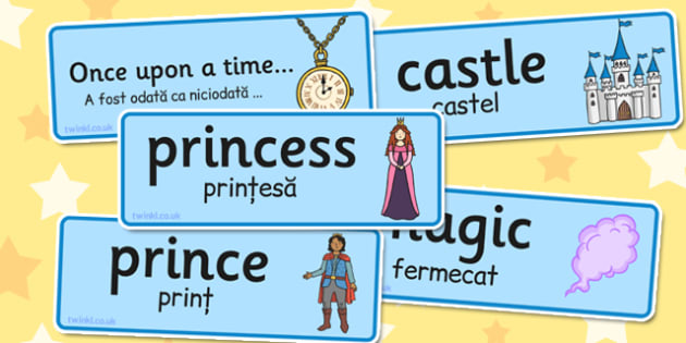 Fairy Tale Word Cards Romanian Translation - romanian, fairy tale