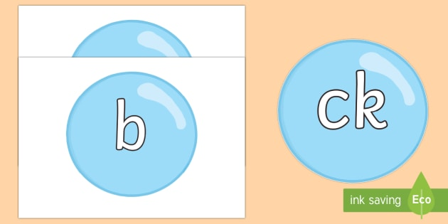 Phase 2 Phonemes on Bubbles - Phonemes, phoneme, Phase 2, Phase two, Foundation, Literacy, Letters and Sounds, DfES, display
