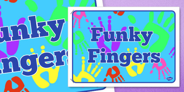 Funky Fingers Display Poster 4xA4 - funky fingers, display poster, 4xA4, display, poster