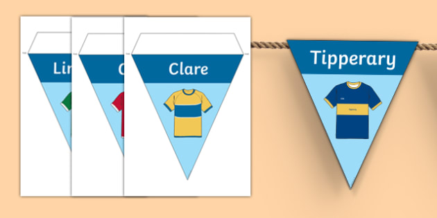 GAA Munster County Colours Display Bunting