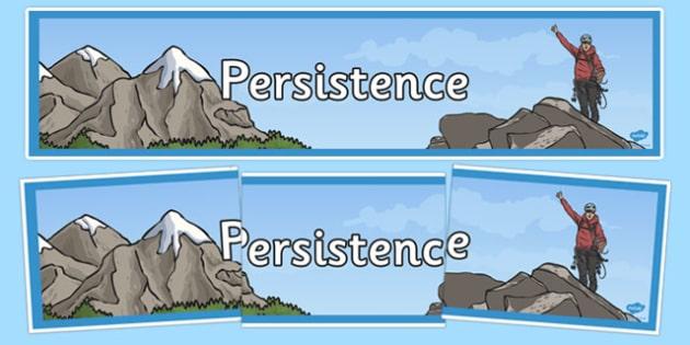 Persistence Display Banner - persistence, display banner, display, banner
