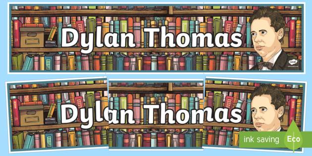 Dylan Thomas Display Banner