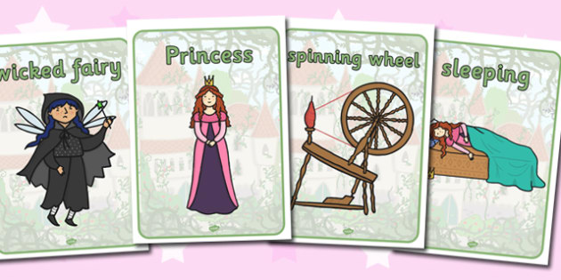 Sleeping Beauty Display Posters - sleeping beauty, traditional tales, posters, display posters, themed posters, images, pictures, key words, topic posters