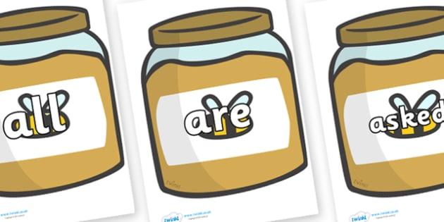 Tricky Words on Honey - Tricky words, DfES Letters and Sounds, Letters and sounds, display, words