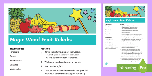 Magic Wand Fruit Kebabs Recipe
