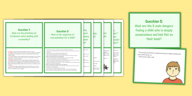 First Aid Prompt Cards for Childminders - First Aid, prompt, childminders, prompt cards