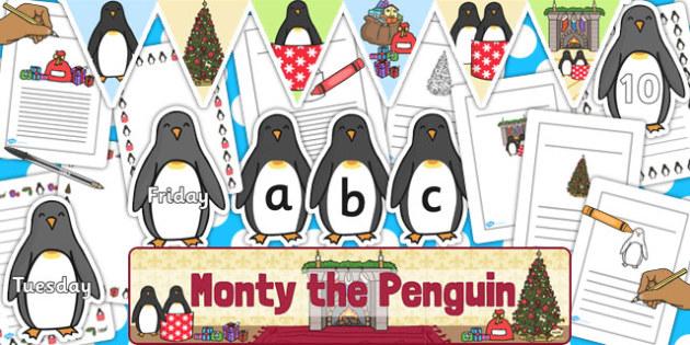 Monty The Penguin Display Pack - monty, penguin, christmas, pack