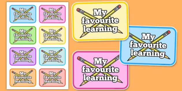 My Favourite Learning Labels - favourite learning, learn, favourite, labels, display, display labels