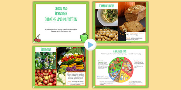 Cooking and Nutrition PowerPoint - cook, eating, health, food