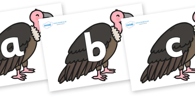Phoneme Set on Vultures - Phoneme set, phonemes, phoneme, Letters and Sounds, DfES, display, Phase 1, Phase 2, Phase 3, Phase 5, Foundation, Literacy