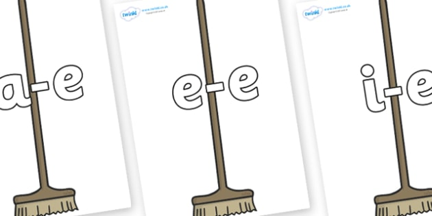 Modifying E Letters on Brushes - Modifying E, letters, modify, Phase 5, Phase five, alternative spellings for phonemes, DfES letters and Sounds