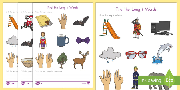 Find the Long i Words Differentiated Activity Sheets