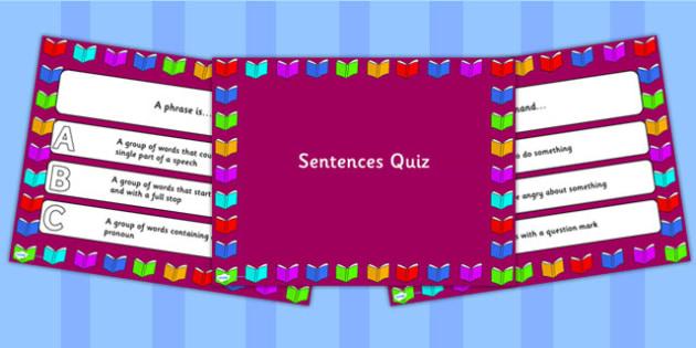 Sentences PowerPoint Quiz - sentences, powerpoint, quiz, sentence