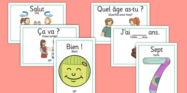 French Getting to Know You Display Posters Portuguese Translation - portuguese, french, getting to know you, display, posters