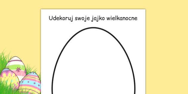 Arkusz Udekoruj swoje pisanki po polsku - wielkanoc