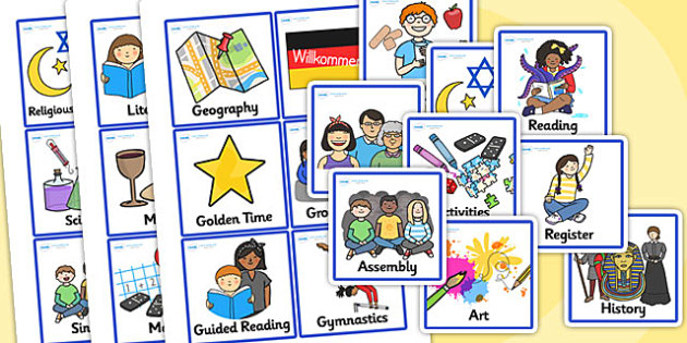 First and Second Class Editable Visual Timetable - Visual Timetable, SEN, editable, editable cards, Daily Timetable, School Day, Daily Activities, KS1, Daily Routine, Foundation Stage
