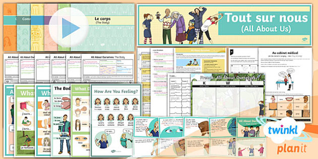PlanIt - French Year 5 - All About Ourselves Unit Pack